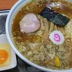 61496071 - ワンタン麺と生玉子 2017.1