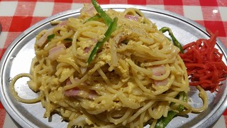 スパゲッティーのパンチョ 渋谷店 - 玉子は半熟気味で良い 2017.1