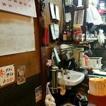 萬月 - 厨房 狭いが店主は右に左に動く