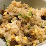 きん田 - (2014年11月)もち米とA5の牛肉のにんにくライス!