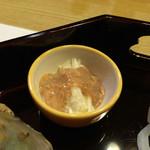 きん田 - (2014年11月)千切りにした山芋とこのこ(海鼠子)
