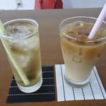 ビストロカフェ綱 TuNa - ドリンク写真:ジンジャーエールとアイスコーヒー