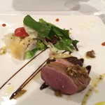 ルミエール デュ ソレイユ - 前菜:鴨とフォアグラ