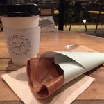 ジェラート ピケ カフェ クレープリー - カカオのクレープ@520、ブレンドコーヒー@200