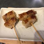 広島お好み焼き・鉄板焼き 倉はし - ネギの肉巻。ネギ絶品