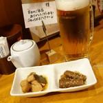 炭焼菜彩干物飯 紀州のしずく - 2016年10月 生ビール【500円】