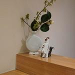 日本料理 太月 - 店内:お花