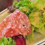 dish-tokyogastronomycafe - ミートパイにはサラダとバゲット付属