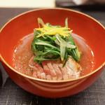 麻布十番 ふくだ - 海老芋と合鴨の治部煮