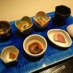 割烹 武田 - 冬の前菜盛り合わせ