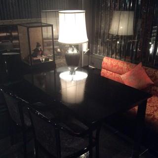 ラウンジ内の半個室