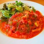 ガスト - トマトとバジルのイタリアンハンバーグ