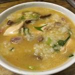 麺屋 裕 - おじやごはん (蟹塩そばのスープを入れた後に撹拌)
