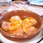 サル イ アモール - ピキージョピーマンの白身魚と海老の詰め物