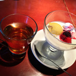 パパイヤリーフ - 最後の飲み物はジャスミン茶をいただきました