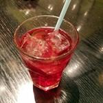 ブルードラゴンオリエンタル - ドリンク写真:クランベリージュース