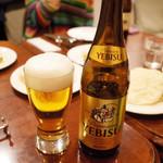 ガネーシュ - ビールセット(1000円)のエビスビール