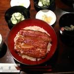 うなぎ双葉 - [料理] 鰻丼 とろろセット (梅) セット全景♪w