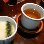 うなぎ双葉 - [料理] とろろ & ほうじ茶