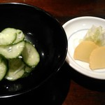 うなぎ双葉 - [料理] 胡瓜 酢の物 & お新香