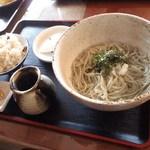 そば処 井田農園 - そば定食(赤貝おこわ)1000円