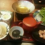ばんどう太郎 - 料理写真:せり鍋お楽しみ膳 1,393円