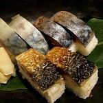 torosabaryourisemmontensaba- - とろさば棒寿司盛合せ