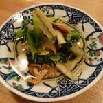 夜ノ焼魚 ちょーちょむすび - 冬野菜と子持ち昆布の 冬おひたし