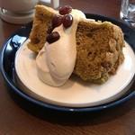 Gardens Pasta Cafe ONS - ランチセットのデザート シフォンケーキ 抹茶