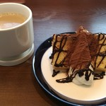 Gardens Pasta Cafe ONS - ランチセットのデザート シフォンケーキ チョコレート