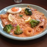 Gardens Pasta Cafe ONS - トマトクリームソースパスタ目玉焼きのせ1,480円