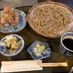 日本料理 筑膳 - 梅俵いなりともり蕎麦セット