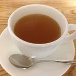 自然食カフェ すぴか - ホットリンゴジュース