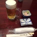篠寿司 - 生ビールとお通し