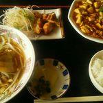 久香亭 - 日替わり定食の麻婆豆腐定食680円