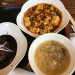 61556730 - 麻婆豆腐とランチセットスープ