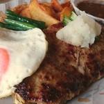 カフェ&レストラン メリーポピンズ - ジャンボハンバーグ(和風ソース)定食 2016.9