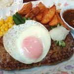 カフェ&レストラン メリーポピンズ - スーパージャンボハンバーグ(300g 和風ソース)大盛1550円 2016.9