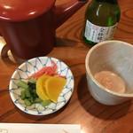 朝日屋 - 蕎麦焼酎蕎麦湯割り