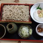 大進そば店 - 料理写真:もりそばセット(そば豆腐付)850円