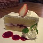 咲ら珈琲  - イチゴショートケーキ