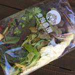 61568526 - 紫海農園のサラダセット450円
