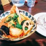 スープカレー ポニピリカ - フィッシュフライと野菜のカレー 税込なら1188円