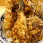 てんぷら石原 - 海老野菜天丼+鱚