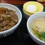 なか卯 - 牛丼+小はいからうどんセット