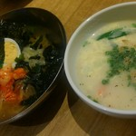 トラジ葉菜 - 〆の冷麺とコムタンクッパ。