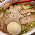 どうとんぼり神座 - おいしいラーメン 中盛り 小チャーシュー 煮卵トッピング