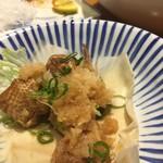 炉ばた茶屋 旅籠 - 鶏皮ポン酢