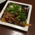 八宝亭 - キモ煮(そのままがおすすめらしい)