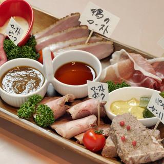 おススメ☆肉の前菜盛り合わせ